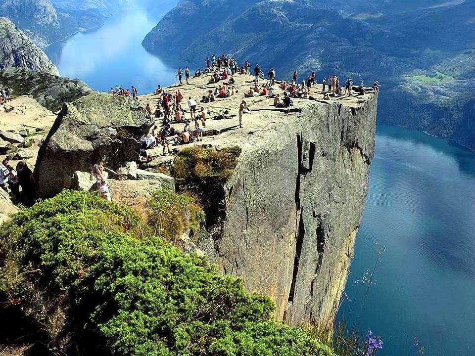 Preikestole te Stavanger in Noorwegen